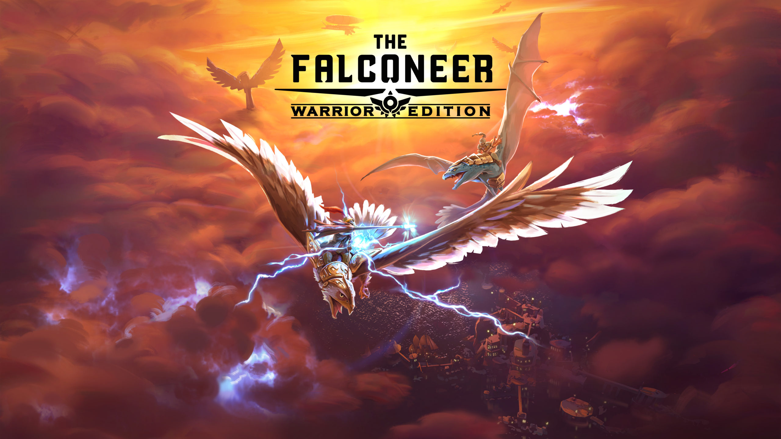 Nas asas de uma majestosa ave em The Falconeer: Warrior Edition